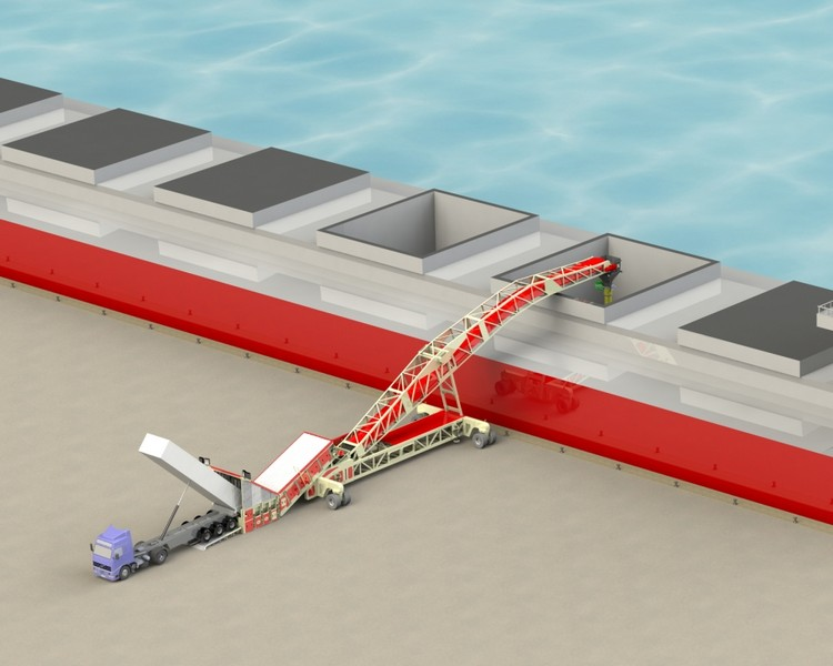 single-feeder-cambered-boom-shiploader