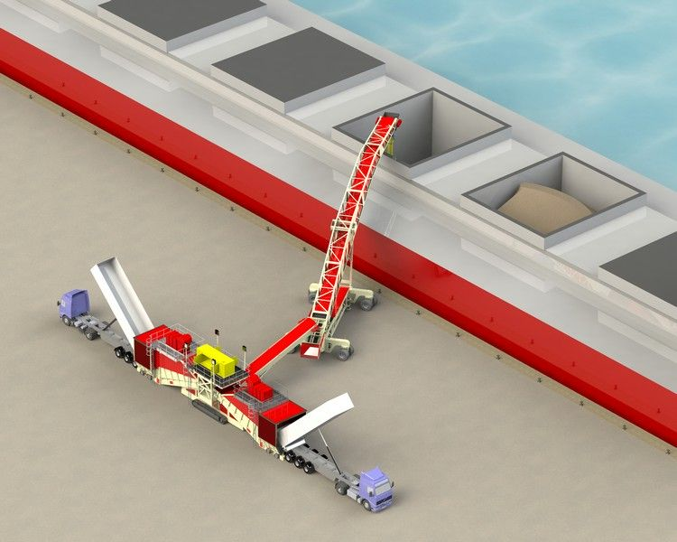 dual-feeder--cambered-boom-shiploader-with-radial-arms--track-bogie